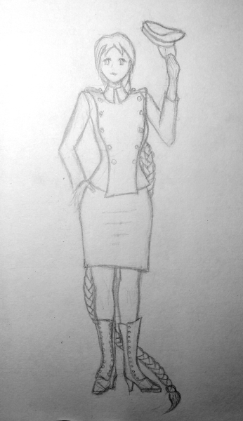 Rough concept sketch for Miss Xing