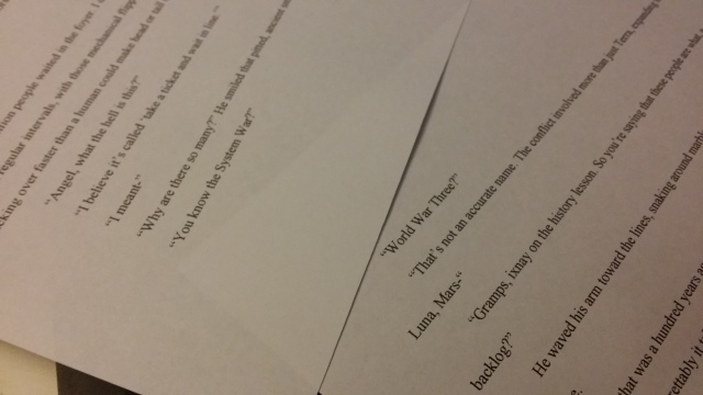 dialogue manuscript