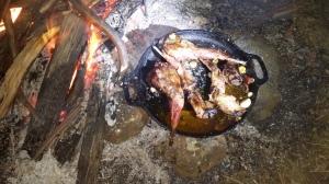 Delicious campfire cooking