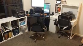 The spacious new desk setup